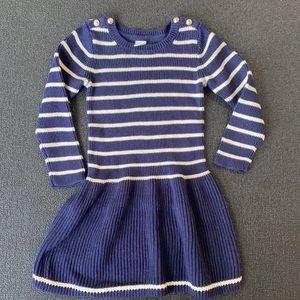 GAP Girls sweater dress navy blue